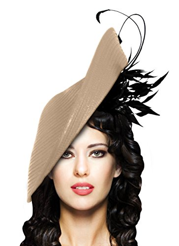 Kentucky Derby Oaks Stunning Profile Dish Fascinator - L21 by Mr. Song Millinery