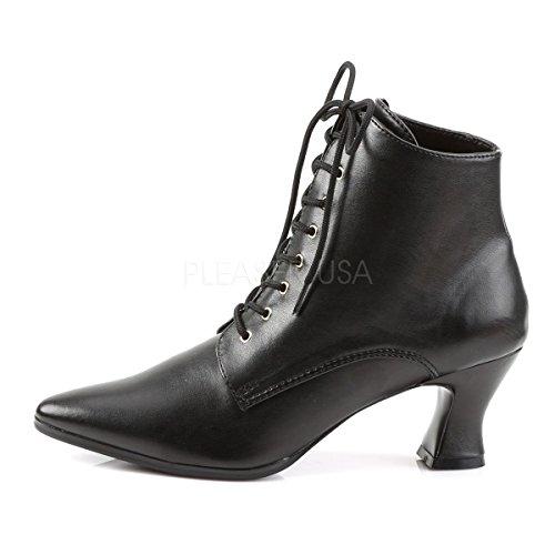 Victorian Boots Voor Dames (zwart Pu; 6)