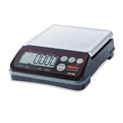 Pelouze Digital Portioning Scale, 12 lb Capacity, 6 2/5'' x 5 4/5'', Platform, Sold as 1 Each