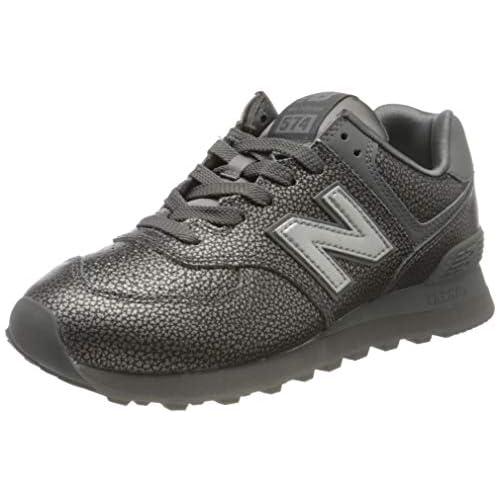 chollos oferta descuentos barato New Balance 574v2 Zapatillas para Mujer Gris Grey Sok 35 EU