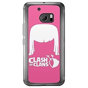 Loud Universe HTC M10 Lash Of Clans Archer Printed Transparent Edge Case, Pink