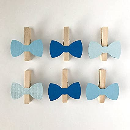 Amazon Com Blue Bow Tie Clothespins Baby Shower Decoration Don T