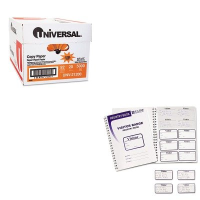 KITCLI97030UNV21200 - Value Kit - C-line Visitor Badges with Registry Log (CLI97030) and Universal Copy Paper (UNV21200)