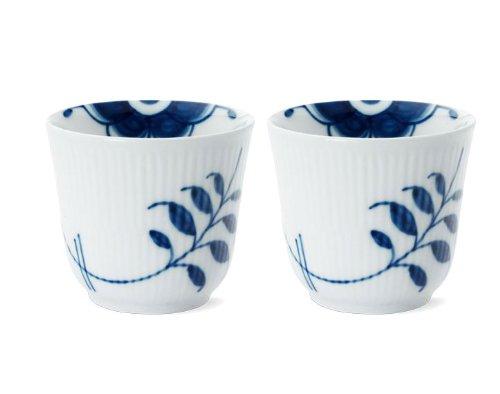 Blue Fluted Mega 8.5 oz. Thermal Mug (Set of 2)