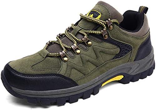 アウトドアシューズ 登山靴 防水 軽量 トレッキングシューズ ハイキング ローカット 滑りにくい スニーカー おしゃれ 大きいサイズ クライミング グレー グリーン レースアップ 旅行 遠足 快適 山登り 厚い底