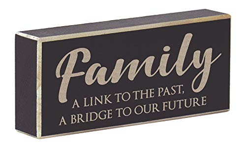 - Rustic Wood Magnet Inspirational Saying Laser Engraved - Family A Link to The Past, A Bridge to Our Future (Rustic Black)