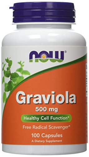 NOW Foods Graviola, 500mg / 100 Capsules (Pack of 2)