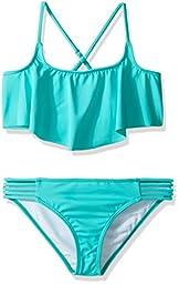 Billabong Big Girls\' Sol Searcher Flutter Two Piece Swimsuit, Paradise, 8