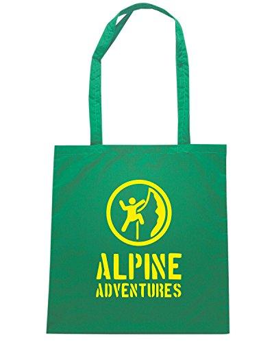 T-Shirtshock - Bolsa para la compra SP0001 Alpine Adventures Maglietta Verde