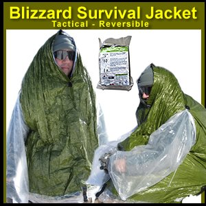 - Blizzard Survival Jacket - Tactical / Reversible - Emergency Core Insulator