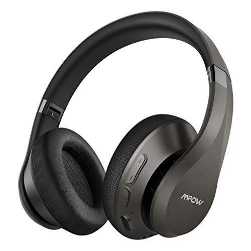 Mpow H20 [Upgraded 059] Bluetooth Headphones Over Ear, 60 Hours Playtime Wireless Headphones, Latest CVC 8.0 Mic, Hi-Fi, Deep Bass, Comfortable Protein Earpads for Travel, Online Class, Home Office