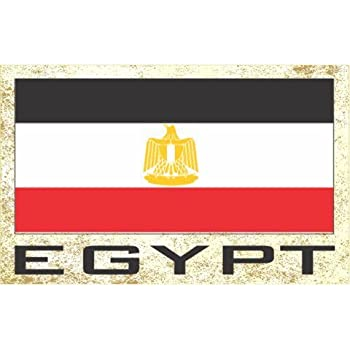 Flag Fridge Refrigerator Magnets - Asia & Africa Grp 1 (1-Pack, Country: Egypt )