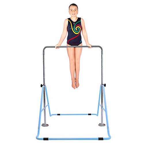 Safly Fun Gymnastics Bars Expandable Children's Training Monkey Folding Bars Climbing Tower Child Play Training Gym (Blue) ()