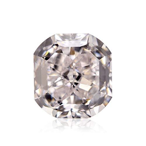 Leibish & Co 0.89 Carat Very Light Pink Loose Diamond Natural Color Radiant Cut GIA Certified