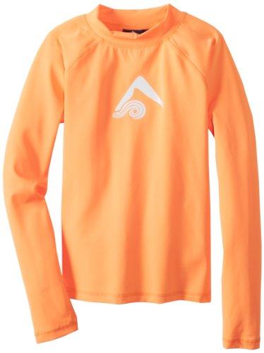 Kanu Surf Big Boys' Platinum Long Sleeve Rashguards, Orange, Small (8) (Oranges Center The Of Heart)