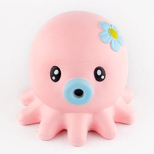 Squishy Uae : BeYumi Slow Rising Toy, Pink Octopus Jumbo Squishy Toy, Cream Scented Simulation Cute Animals ...