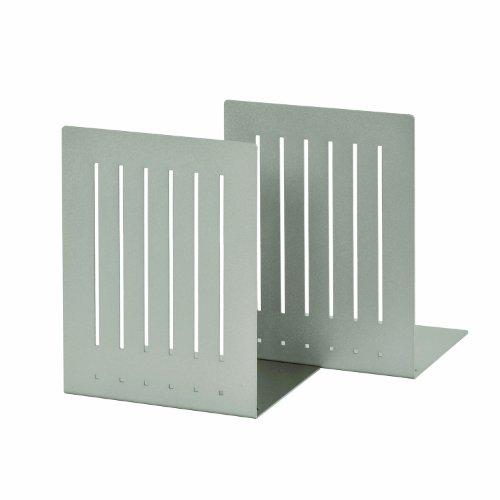 STEELMASTER Heavy Duty 8-Inch Steel Bookends, 1 Pair, Silver (241080050)