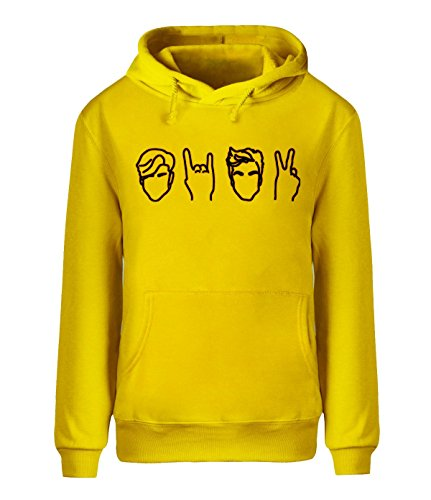 Adult Disco Dolly - saozi Dolan&Twins Logo Sweatshirt Men's HoodieDesigned Adult Pullover-Yellow&L