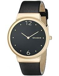 Skagen Womens SKW2370 Freja Black Leather Watch