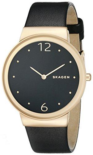 Skagen Women's SKW2370 Freja Black Leather Watch