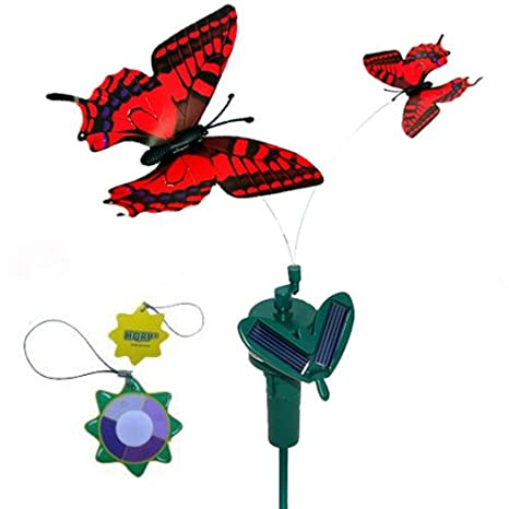 Solar Power Simulation Realistic Flying Butterfly Bird Light Lawn Outdoor Decor