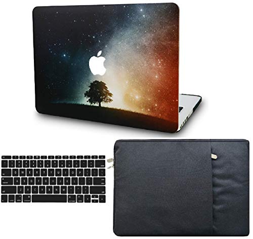 """KECC Laptop Case for MacBook Air 13"""" Retina (2020, Touch ID) w/Keyboard Cover + Sleeve Plastic Hard Shell Case A2179 3 in 1 Bundle (Lonely Tree)"""