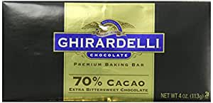 Ghirardelli Chocolate Baking Bar, Extra Bittersweet Chocolate, 4 oz., 6 Count