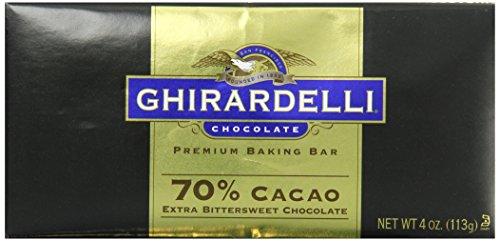 Bittersweet 60% Chocolate Cacao (Ghirardelli Chocolate Baking Bar, Extra Bittersweet Chocolate, 4 oz, 6 Count)