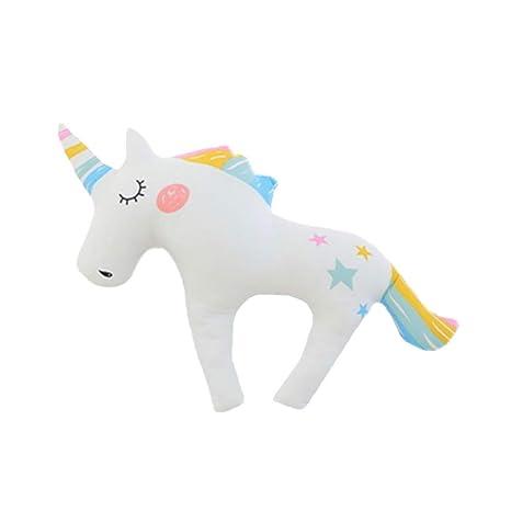 Ruiting Cojín Unicornio de U Almohada en Forma de U Almohadilla del Unicornio Ayuda del Cuello del avión Regalo para Amigo Madre Niños