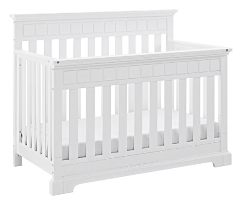 Thomasville Kids Willow 4-in-1 Convertible Crib, White, Easily Converts to Toddler Bed Day Bed or Full Bed, Three Position Adjustable Height Mattress, Assembly Required (Mattress Not Included) ()