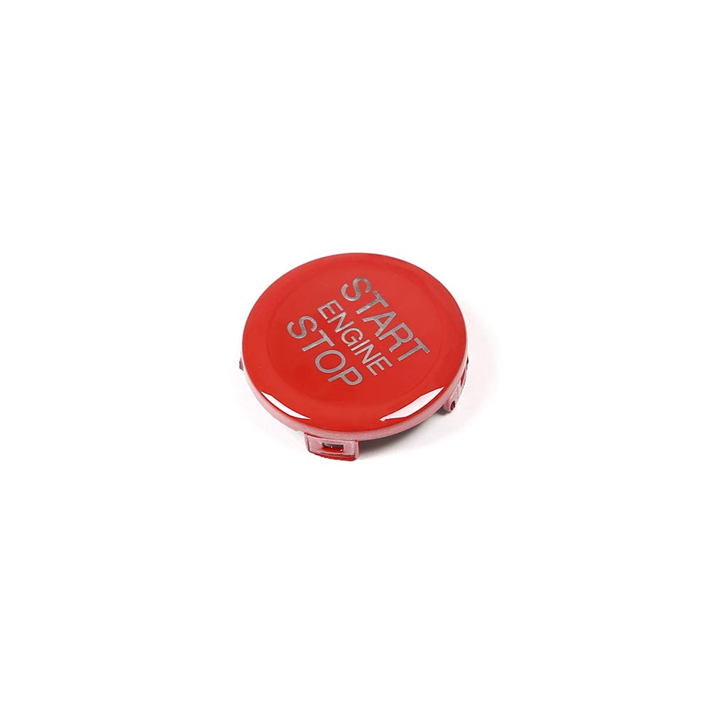 ABS Car Engine Start Stop Switch Button Cover Trim 1pc For Alfa Romeo Giulia Stelvio 2017 2018 (Red)