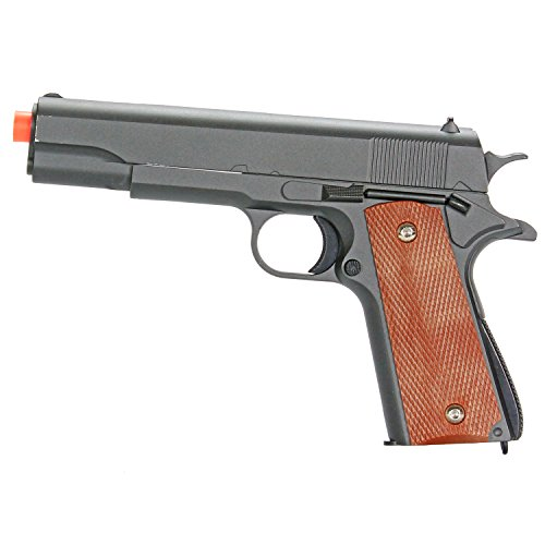 BBTac Airsoft Pistol 1911 G13 Classic Style Airsoft Gun Spring Powered 300 FPS, Metal Alloy Construction