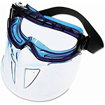 e85c6b7513f Jackson Safety V90 Shield Clear Anti Fog Lens Protection Goggle with Blue  Frame