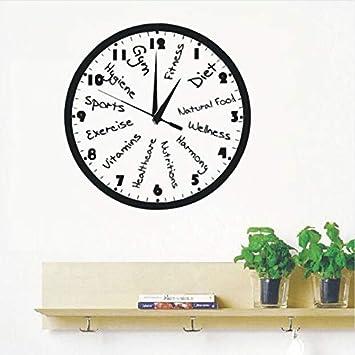 Cczxfcc Vinilo Tatuajes De Pared Reloj De Fitness Club Etiqueta De La Pared Nuevo Diseño Reloj