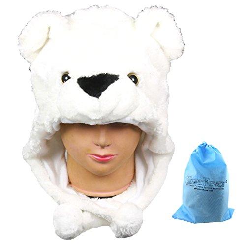 Silver Fever Plush Soft Animal Beanie Hat (Polar Bear)