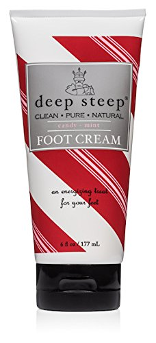 Lotion Peppermint Foot (Deep Steep Therapeutic Foot Cream, Candy Mint, 8 Ounce)
