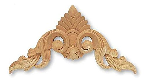 - Plume & Splash Wood Carving Applique - 11