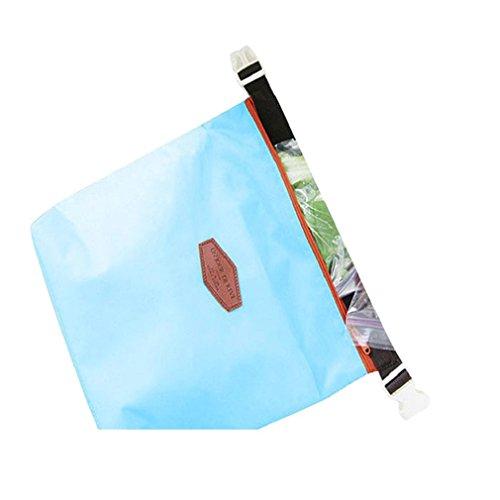 Towallmark(TM)Portable Warm Heat Insulation Neoprene Convenient Lunch Outdoor Food Insulated Pouch Cooler Waterproof Food Storage Bag (Blue)