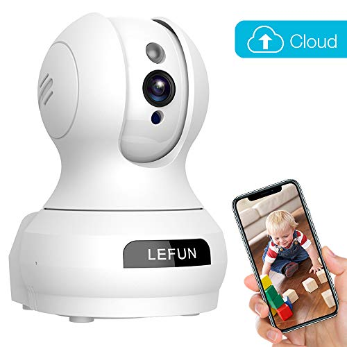 Baby Monitor, Lefun Wireless IP Security Camera WiFi Surveillance Pet Camera with Cloud Storage Two Way Audio Remote Viewing Pan Tilt Zoom Night Vision Motion Detect for Indoor Home Shop Office