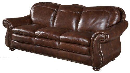 (Hanover Leather Sofa by Leather Italia USA)
