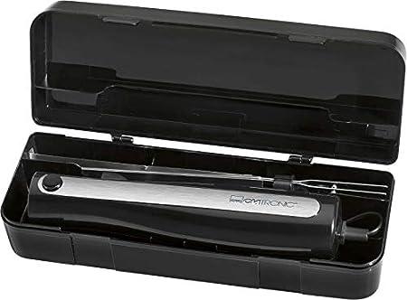Cuchillo eléctrico de cocina para alimentos congelados (hoja de acero inoxidable, filo ondulado, 120 W), color negro