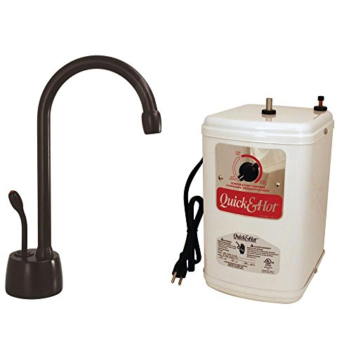 Westbrass Velosah 1-Handle Hot Water Dispenser Faucet with Instant Hot Tank, Oil Rubbed Bronze,...