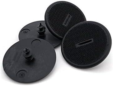Juego de 4 piezas de kh piezas de velcro para fijación de alfombrillas, soporte de suelo para coche (atornillable, también para reequipamiento)