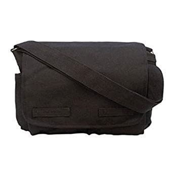 Amazon.com: Black Classic Canvas Messenger Bag: Clothing