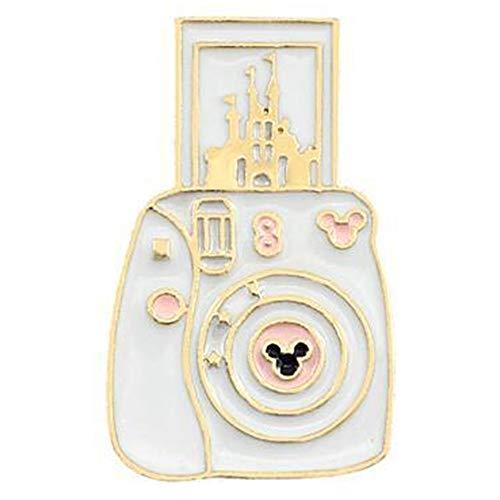 - Flairs New York Premium Handmade Enamel Lapel Pin Brooch Badge (White Magic Instant Camera, 1 Pin)