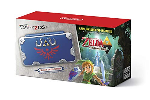 New Nintendo 2DS XL Hylian Shield Ed., w/ Legend of Zelda: A Link Between Worlds (3ds Zelda A Link Between Worlds Bundle)