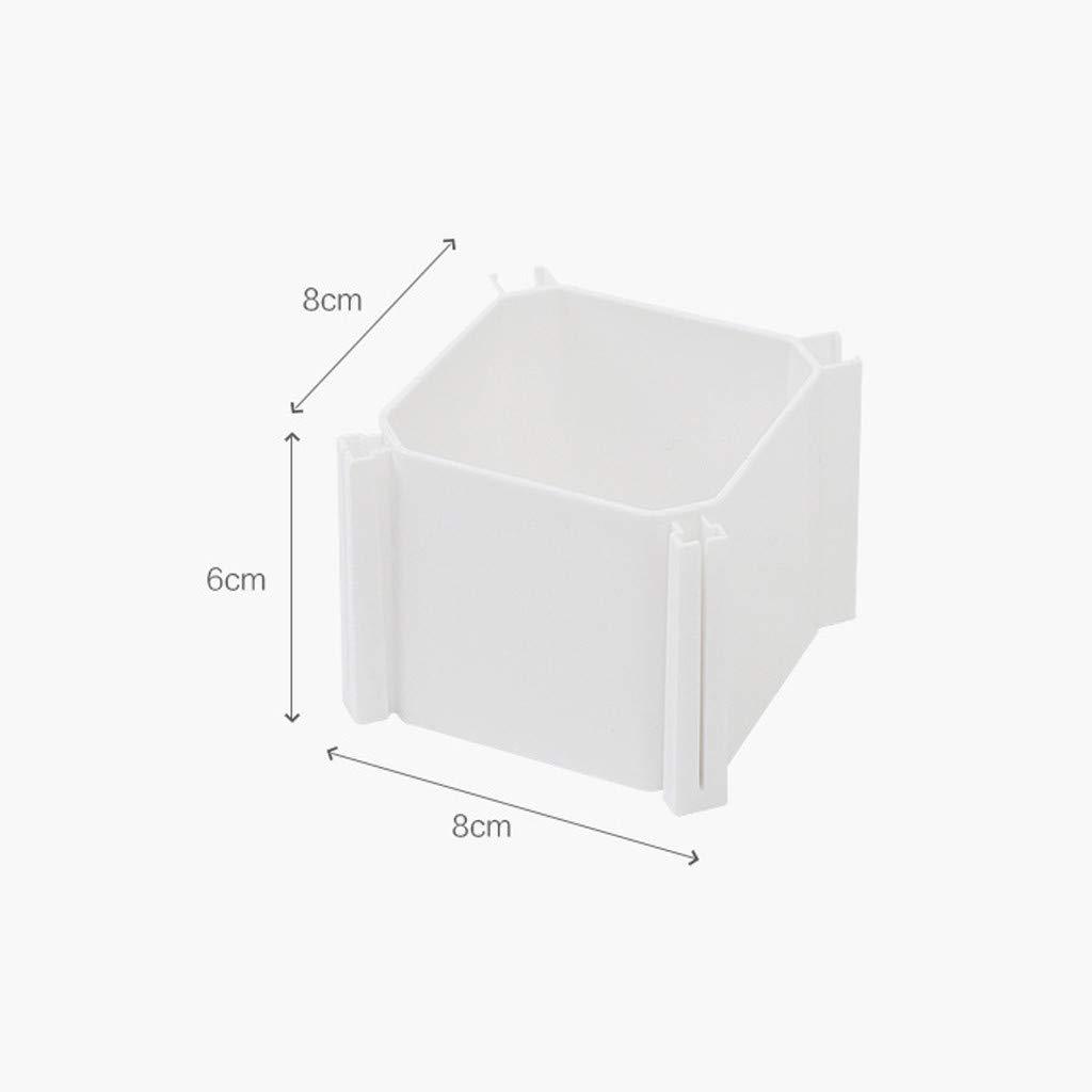 Luccase Desktop Organizer 6 Pcs Honeycomb Latticed Partition Drawer Plastic Splicing Divider Cabinet Organiser Classification Space Saver 3.15/×3.15/×2.36inch