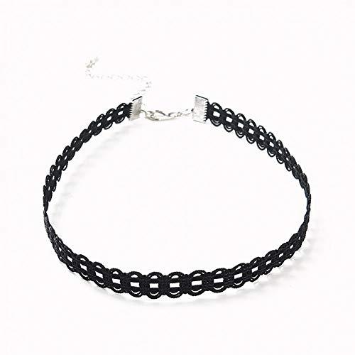 (CTRCHUJIAN Vintage Dress Black lace Necklace Collar Simple Female Short Neck Strap)