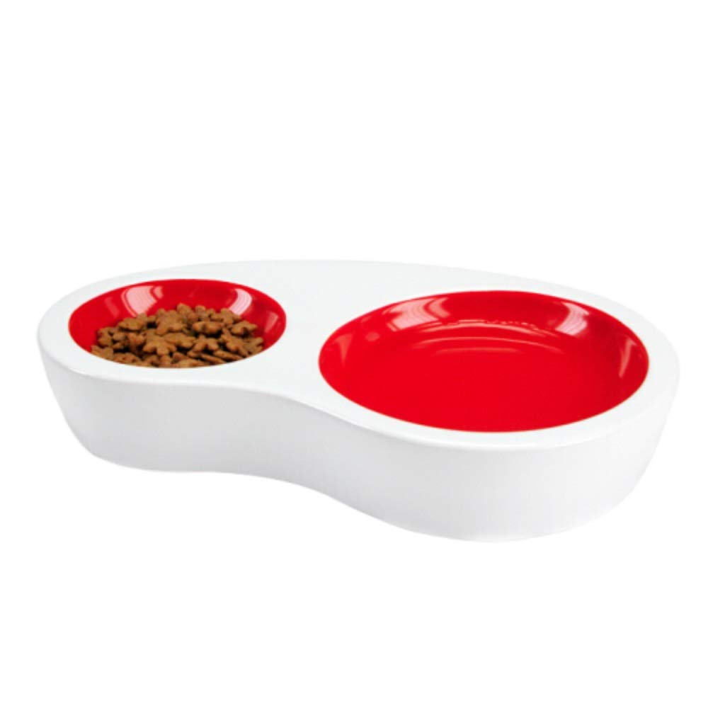 S Onnear Senior Ceramic Pet Bowl,Healthy Feeding Stations,Function Auto Feeder,Feeder and Water 2 In 1,for Dogs Cats and Pets,for Dry or Wet Food (Size   S)