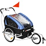 Confidence 2-in1 Double Baby/Child Bike Trailer / Jogger / Stroller
